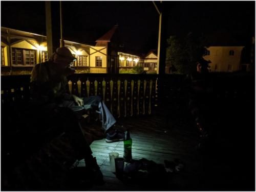 Lázně Sedmihorky v noci