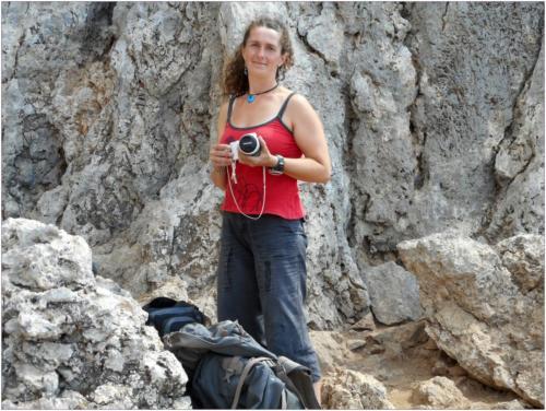 Irena po lezení už jen fotí