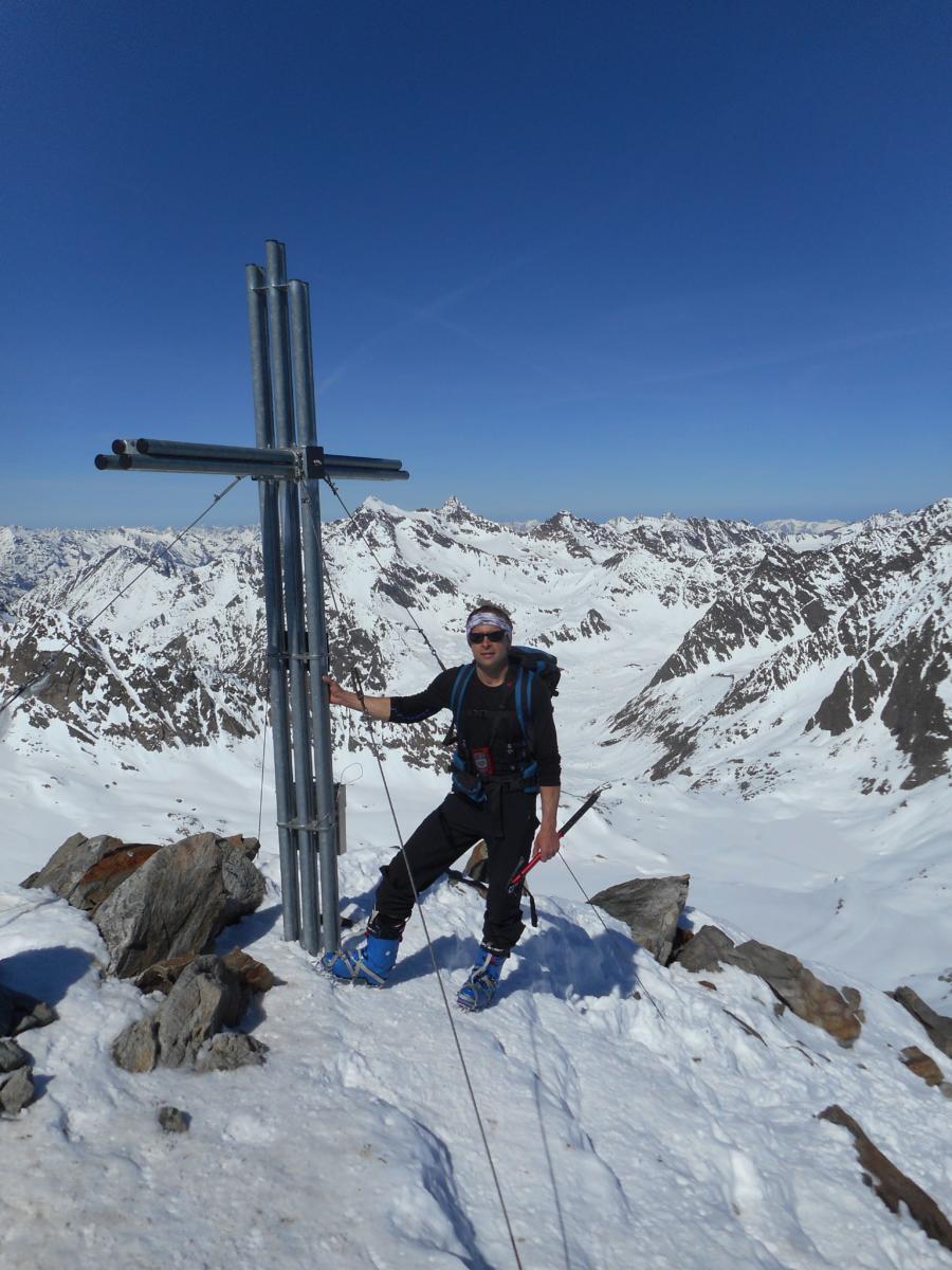 Pavel na vrcholu  Weisser Kogel